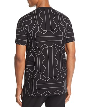 BLACKBARRETT by Neil Barrett - Football Line-Print Tee