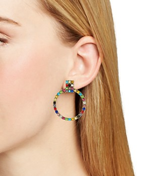 BAUBLEBAR - Gemma Pavé Loop Drop Earrings