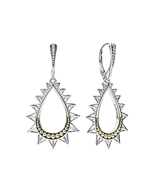 Lagos 18K Yellow Gold & Sterling Silver Ksl Spiked Pyramid Pear Shaped Drop Earrings