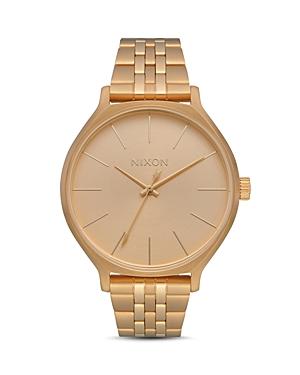 Nixon Clique Gold-Tone Watch, 38mm