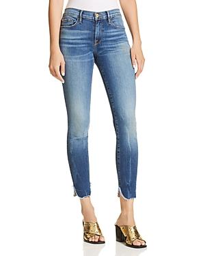Frame Le Skinny De Jeanne Cropped Petal-Hem Jeans in Sherman