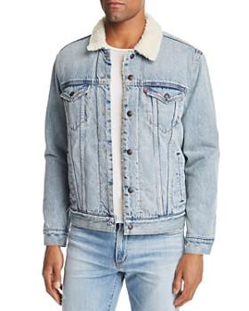 Levi's - Faux Shearling-Lined Denim Trucker Jacket