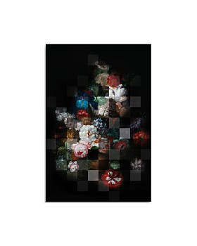 "Art Addiction Inc. - Pixelated Moody Florals Wall Art, 45"" x 30"""