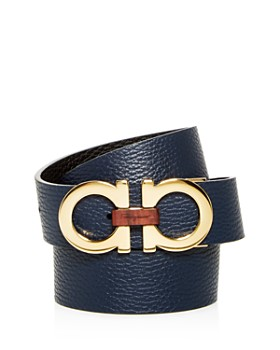 Salvatore Ferragamo - Double Gancini Reversible Leather Belt