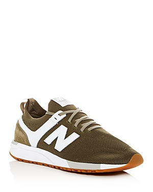 New Balance Men's 247 Knit Lace Up Sneakers