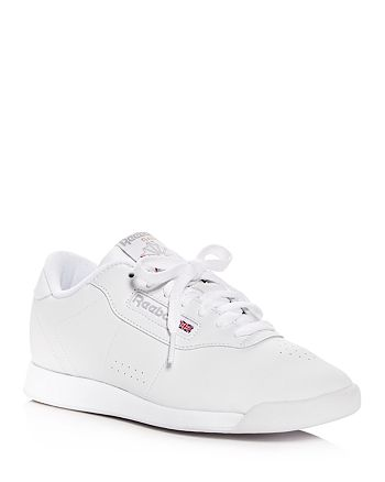 Reebok - Women's Princess Faux Leather Lace Up Sneakers