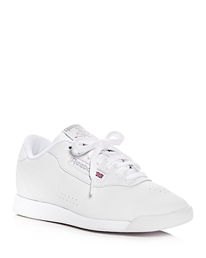 Reebok Women's Princess Faux Leather Lace Up Sneakers