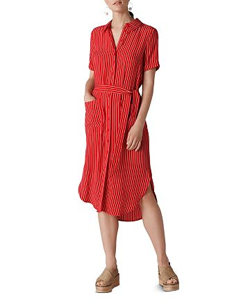 reasonably priced elegant and sturdy package 100% genuine Whistles Montana Striped Shirt Dress   Bloomingdale's