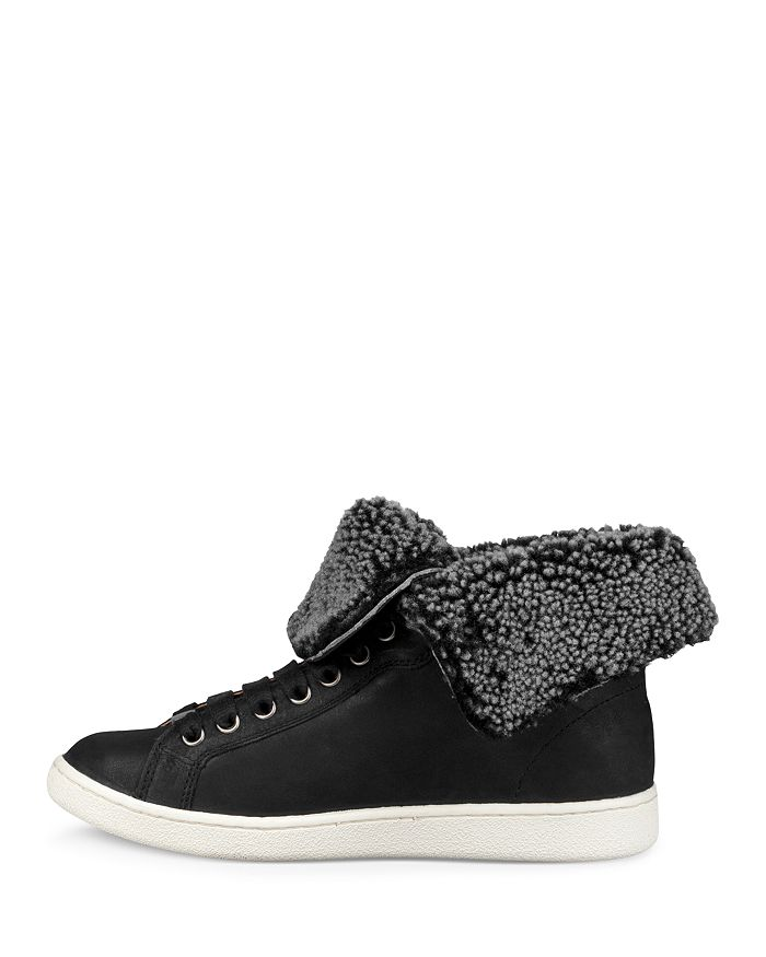 7722e5496fd Women's Starlyn Round Toe Lace Up Leather High-Top Sneakers