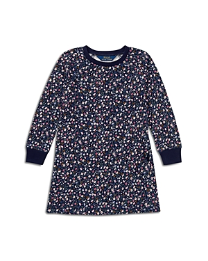Polo Ralph Lauren Girls' Floral French Terry Sweater Dress - Little Kid