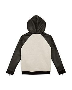 True Religion - Boys' Contrast Faux-Leather Rebel Hoodie - Little Kid, Big Kid