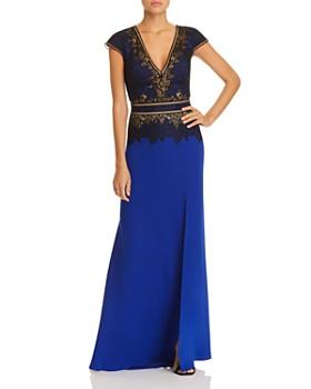 c2b6150bcd59 Tadashi Shoji - Lace-Appliquéd Crepe Gown ...