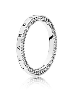 PANDORA Sterling Silver & Cubic Zirconia Signature Hearts Ring - Bloomingdale's_0