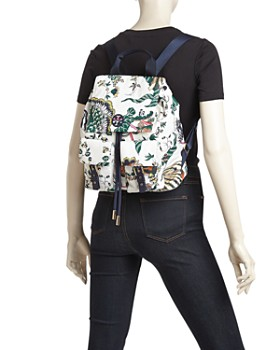 Tory Burch - Tilda Medium Printed Nylon Backpack