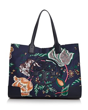 Tory Burch - Ella Medium Floral-Print Nylon & Leather Tote
