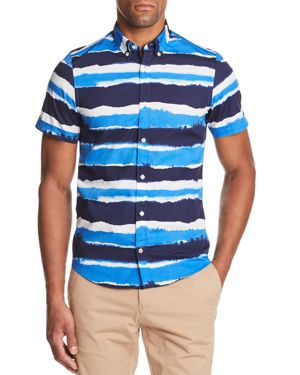 Tommy Hilfiger Watercolor Slim Fit Button-Down Shirt