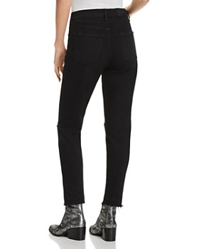 Pistola - Nico Mom High-Rise Distressed Straight-Leg Jeans in Embers