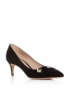 Giorgio Armani - Women's Decollete Suede Kitten-Heel Pointed Toe Pumps