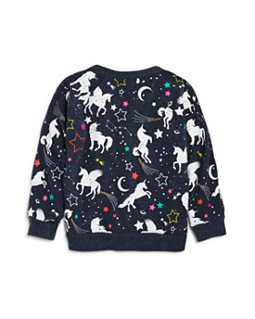 CHASER - Girls' Unicorn Fantasy Raglan Sweatshirt - Little Kid, Big Kid