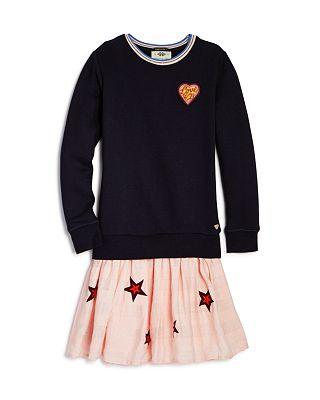 Scotch R'Belle Girls' Sweatshirt Star Dress - Little Kid, Big Kid