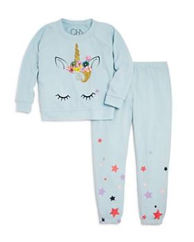 CHASER - Girls' Unicorn Sweatshirt & Starry Sweatpants - Little Kid, Big Kid