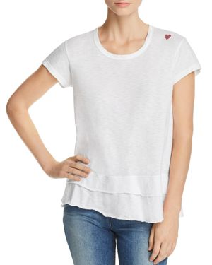 Sundry Mini Heart Tiered Tee