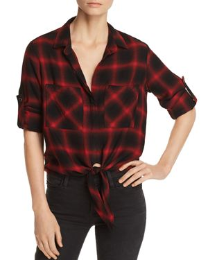 Bella Dahl Tie-Front Plaid Shirt