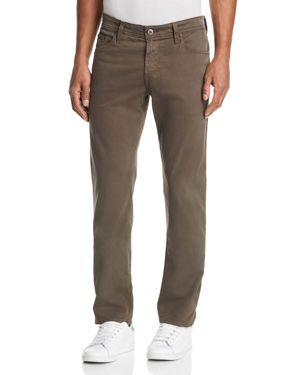 Ag Graduate Straight Slim Jeans in Grey Sand
