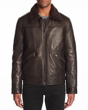 Andrew Marc - Kilmer Shearling-Trimmed Leather Jacket