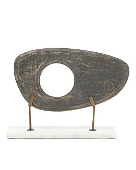 Mitchell Gold Bob Williams - Wide Dark Gray Wood Sculpture on Stand