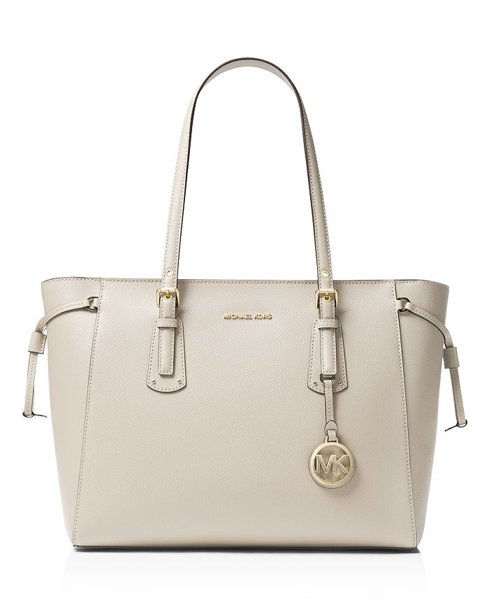 ffb2047f133f MICHAEL Michael Kors Voyager Medium Top Zip Leather Tote ...