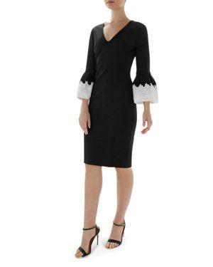 Rastrel Bell Sleeve Dress, Black
