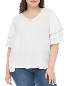 B Collection by Bobeau Curvy - Clare Tiered-Sleeve Top