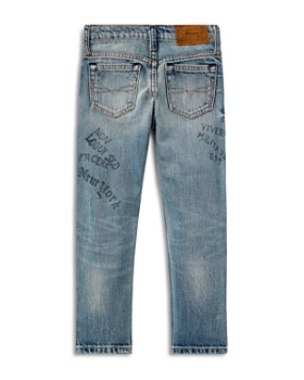 Ralph Lauren - Boys' Sullivan Slim-Fit Jeans with Doodles & Patches - Little Kid