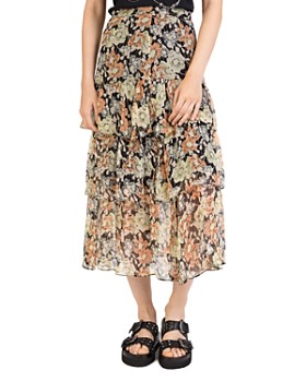 The Kooples - Wanted Floral Midi Skirt