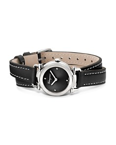 Salvatore Ferragamo - Gancino Casual Black Leather Watch, 26mm