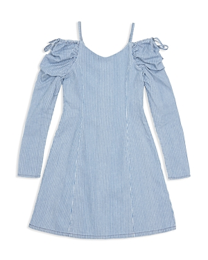 Habitual Girls' Whilemina Cold-Shoulder Stripe Dress - Big Kid