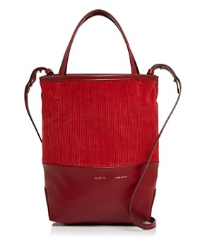 Alice.D - Small Velvet & Leather Tote - 100% Exclusive
