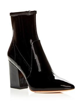 a82ac3d17f8 Loeffler Randall - Women's Isla Patent Leather Block-Heel Booties ...