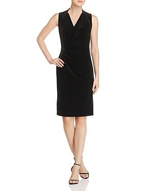 Elie Tahari Dolly Sleeveless Velvet Dress