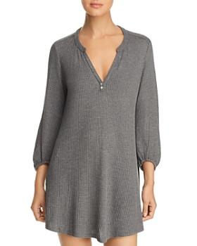 Eberjey - Ula Peasant Waffle-Knit Sleepshirt