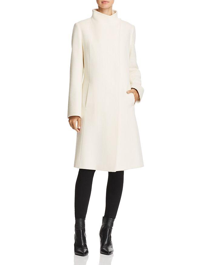 Cinzia Rocca - Wool & Cashmere Hidden Snap Coat