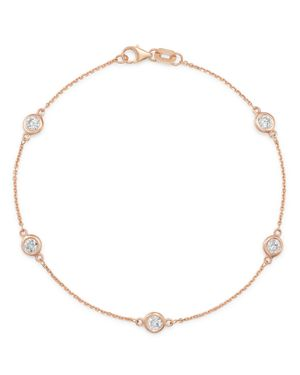 Bloomingdale's Diamond Station Bracelet in 14K Rose Gold, 0.70 ct. t.w. - 100% Exclusive