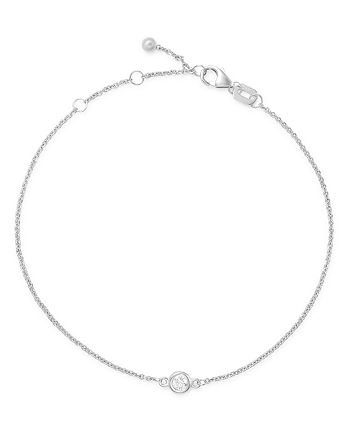 Bloomingdale's - Diamond Bezel Set Bracelet in 14K White Gold, 0.10 ct. t.w. - 100% Exclusive