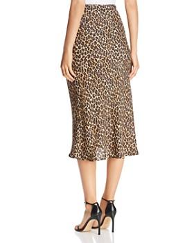 Three Dots - Leopard Pencil Skirt