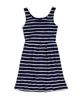 AQUA - Girls' Scalloped Striped Shirt Dress, Big Kid - 100% Exclusive