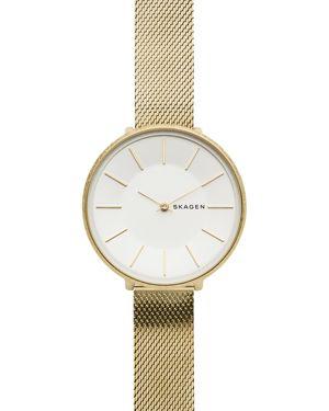 SKAGEN Karolina Gold-Tone Stainless Steel Mesh Bracelet Watch 38Mm