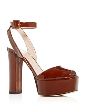 Giuseppe Zanotti - Women's Patent Leather High Block-Heel Platform Sandals