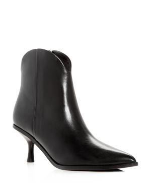 Sigerson Morrison Women's Hayleigh Leather Kitten-Heel Booties 3089157