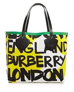 "Burberry - ""The Giant"" Medium Graffiti Logo Print Tote"